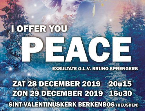 KERSTCONCERT I OFFER YOU PEACE 28/12 + 29/12